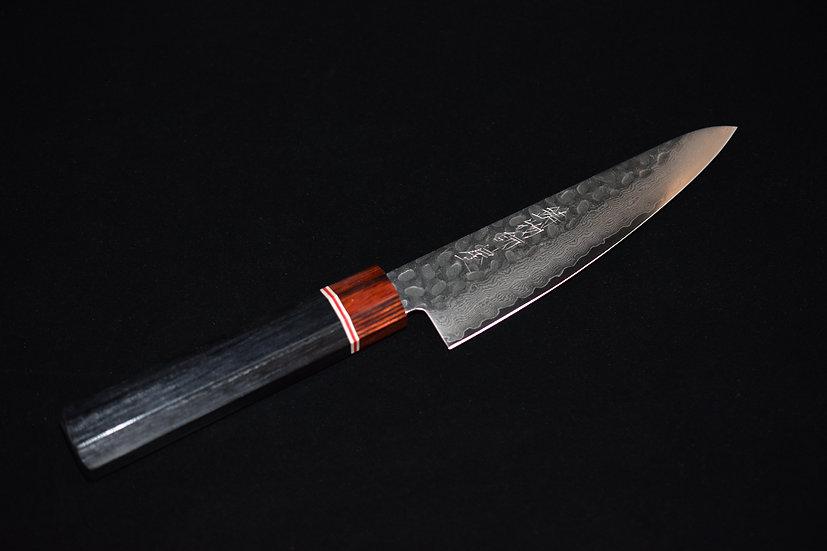 Hitohira Imojiya ST Tsuchime Damascus Petty 135mm Bois de Pakka