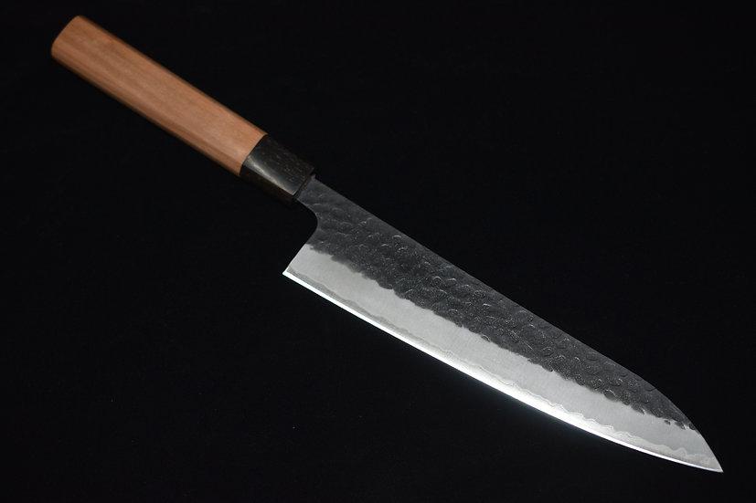 Hitohira Futana SB Kuro Tsuchime Gyuto 210mm Bois de Cerisier
