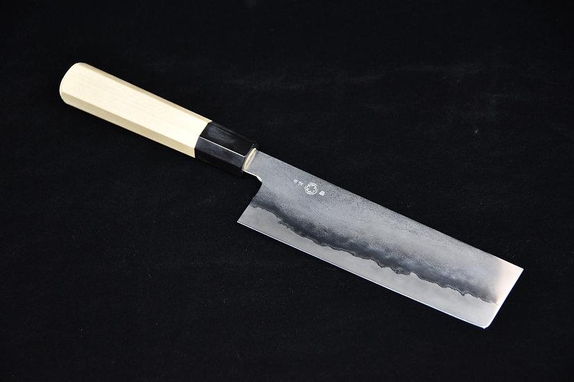 Takada no Hamono Silver # 3 Suiboku Nakiri 180mm Ho Wood
