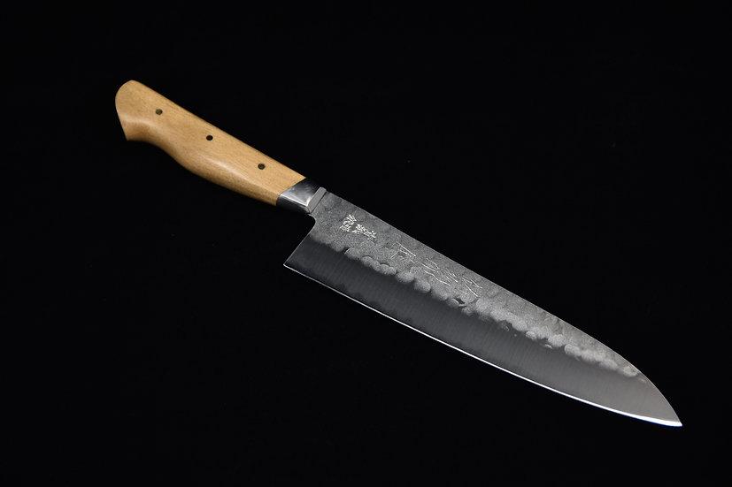 Hitohira Aogami no.2 Nashiji Tsuchime Gyuto 200mm Beech Wood
