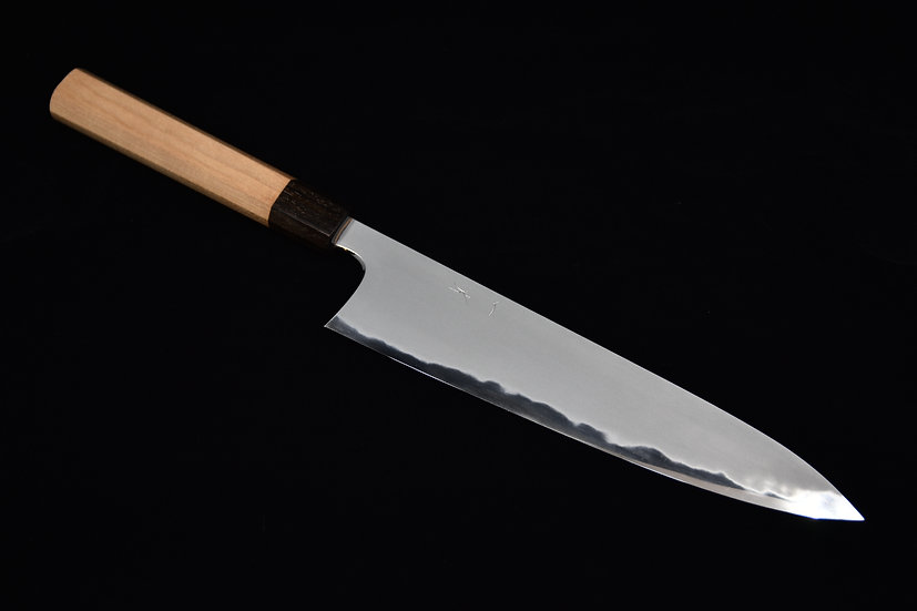 Hitohira Tanaka Yohei Aogami # 1 Kasumi Gyuto 240mm Cherry Wood