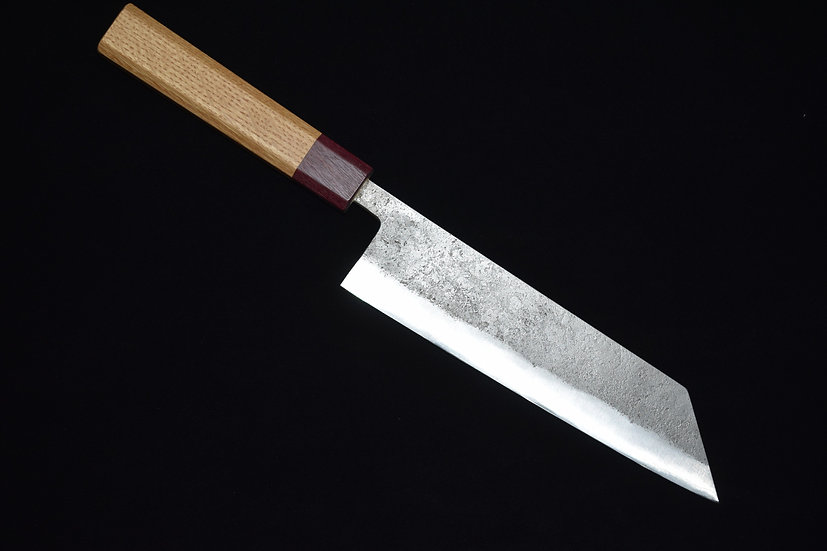Goko Hamono Bunka 200mm Shirogami # 1 Oak Wood