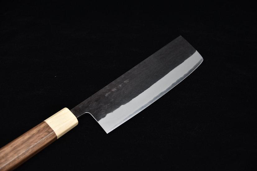 Hitohira TD Aogami # 2 Stainless Clad Kurouchi Nakiri 165mm Walnut Wood