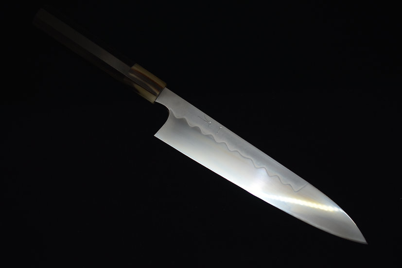 Hitohira Kikuchiyo Yohei Shirogami # 3 Honyaki Gyuto 240mm Ebony wood