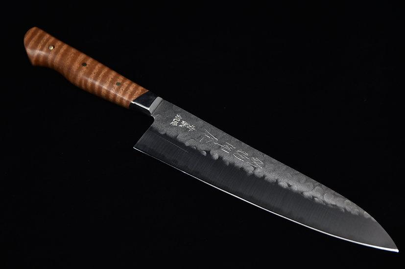 Hitohira Aogami no.2 Nashiji Tsuchime Gyuto 200mm Makoré Ondé Wood