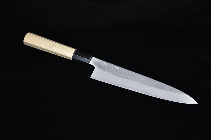 Hitohira Kikuchiyo Ren Shirogami # 2 Gyuto 210mm Ho Wood