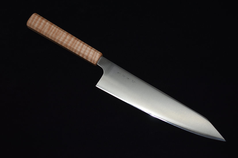 Hitohira kiritsuke Gyuto PS60 210mm Bois d'érable Piqué No.14