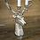Thumbnail: handgefertigter Kerzenleuchter Hirschkopf Aluminium