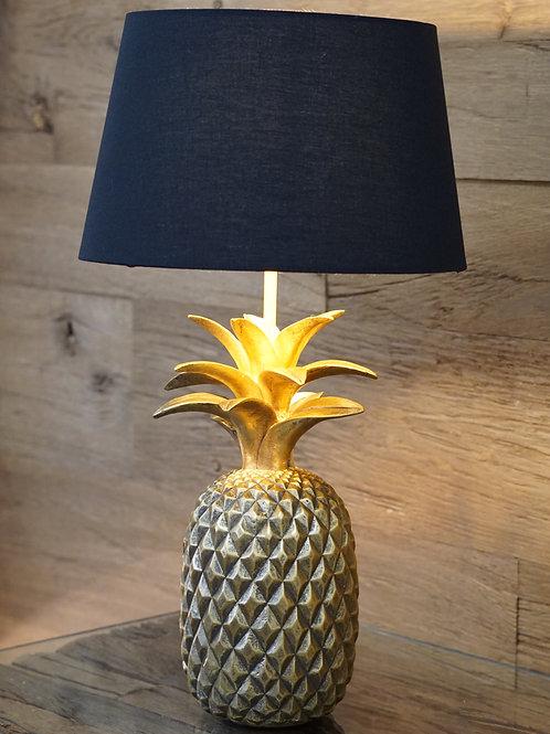 Tischleuchte Ananas in Gold /Schwarz