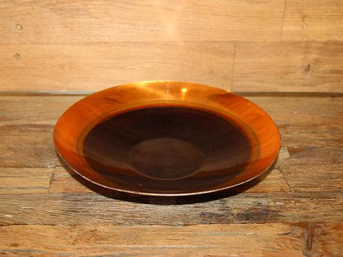Dekorative Schale aus Metall in Gold/Schwarz handgefertigt