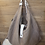 Thumbnail: Hängetasche Shopper aus handgewebten Naturleinen in Braun