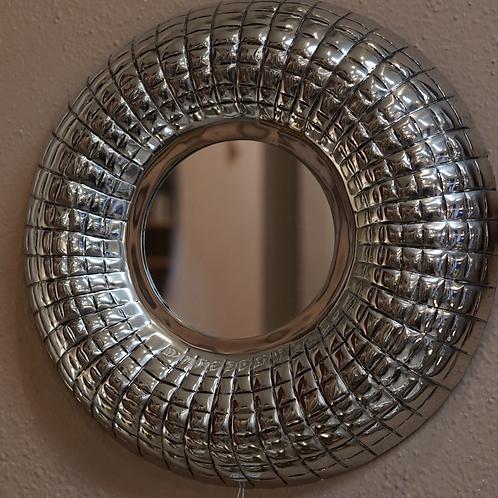 Dekorativer Spiegel rund Metallrahmen