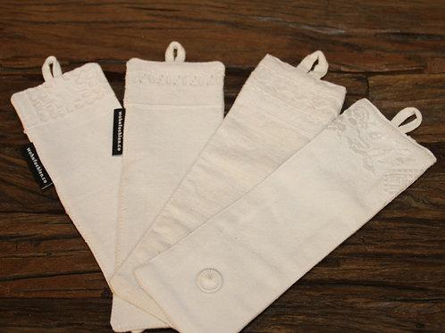 Serviettenhalter aus handgewebtem Naturleinen mit Handarbeit