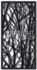 organic laser cut screen design