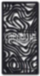 abstract laser cut screen design