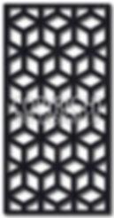 geometric laser cut screen design