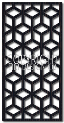 geometric laser cut screen design