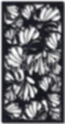 botanic decorative screen pattern