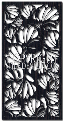 botanic decorative screen pattern