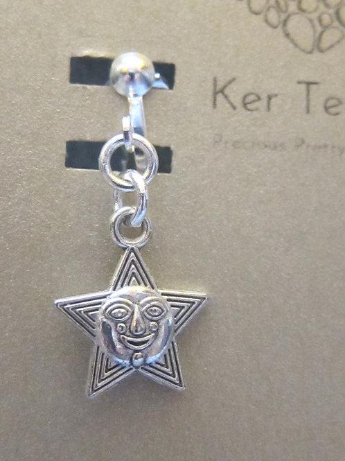 Happy star clip on earrings