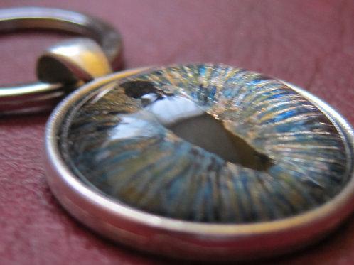 Dragon's Eye keyring - blue tones