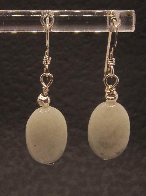 Jadeite and sterling silver earrings