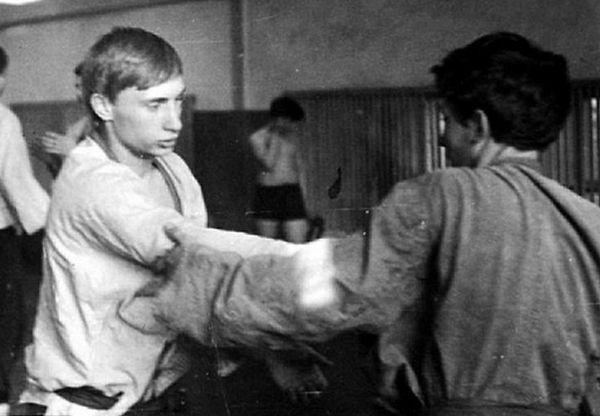 Путин като млад джудист