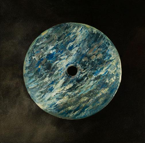 Cercle de vie bleu