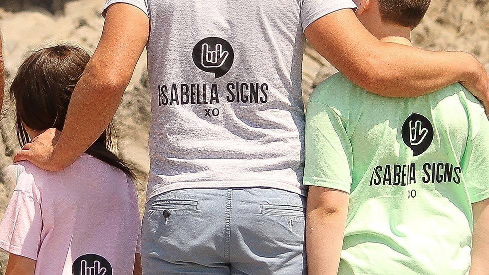 Kids T Shirt Isabella Signs