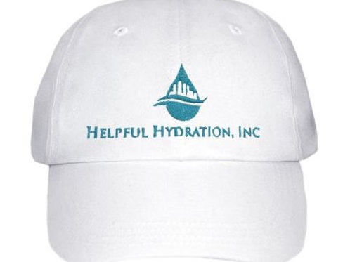 White Helpful Hydration Hat