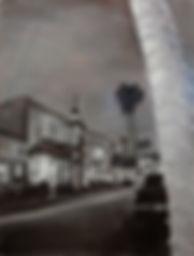 Downtown In December (24 x 18) Oil on Li
