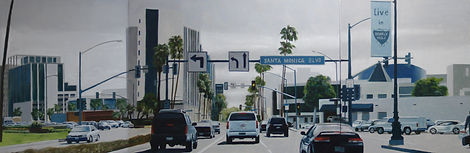 Approaching Santa Monica Blvd (28 x 80).