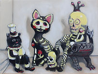 El Gato Muerto (9 x 12) oil on canvas.jp