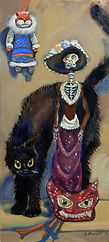 Mildred and the Very Black Cat (20 x 9)