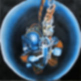 Diver in a Hole (16 x 16) oil on linen.j