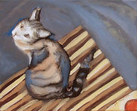 Ohayo Gozaimasu (8 x 10) oil on canvas.j