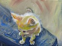 Petite Ruffian (9 x 12), oil on canvas.j