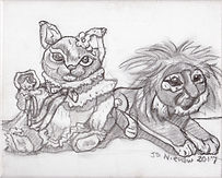 Princess Hime and the Lion (8x10) charco