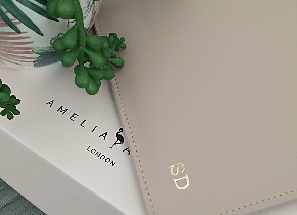 Taupe signature pouch