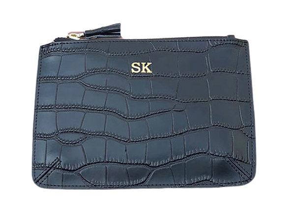 Black Croc small pouch