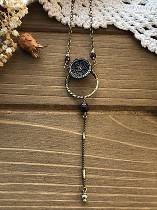 Small Victorian button necklace