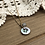 Thumbnail: Little Button Charm Necklace with Fluorite