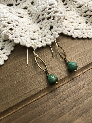 Drop Earrings with Turquoise