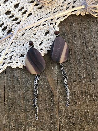 Jasper Tassel Earrings