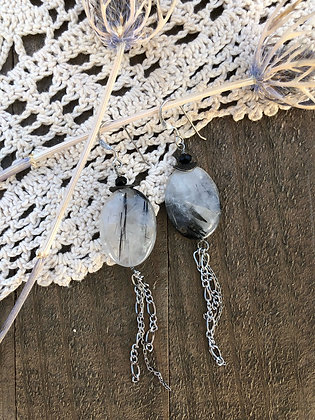 Tourmalated Quartz Tassel Earrings
