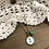 Thumbnail: Little Button Charm Necklace with Turquoise