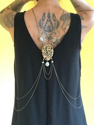 Vintage Brass Flower Jewelry Shrug