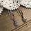 Thumbnail: Drop Earrings with Tourmalinated Quartz
