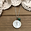 Thumbnail: Button Charm Necklace with Turquoise