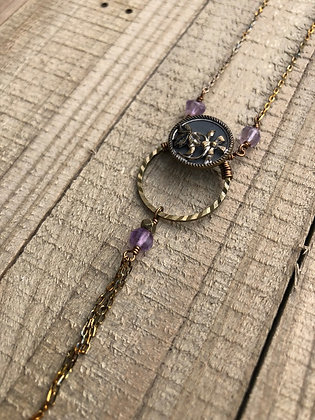 Victorian Button Necklace